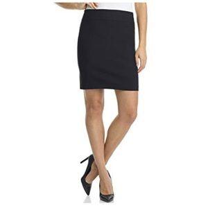 St John Knit Black Santana Pull On Short Skirt 6
